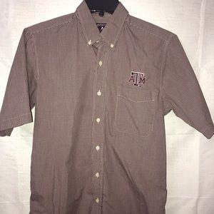 Texas A&M Small Antigua men's button shirt